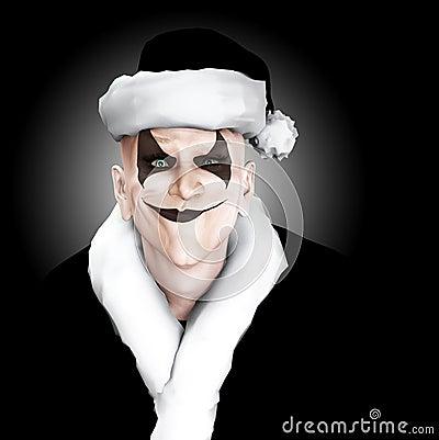 邪恶的小丑圣诞老人