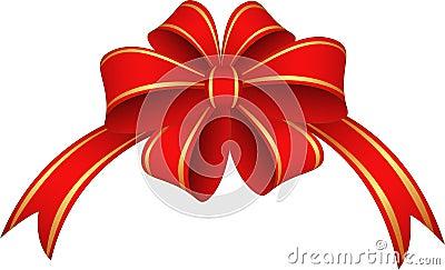 红色丝带和弓