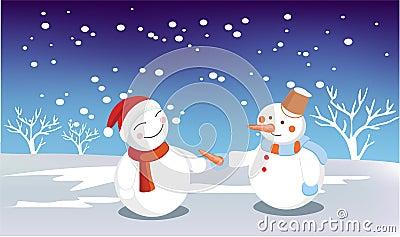 Человек снежка