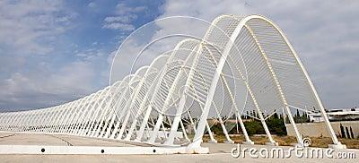 奥林匹克体育场在雅典,希腊 编辑类照片