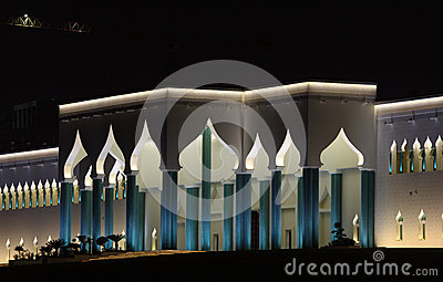 埃米尔宫殿在晚上,多哈