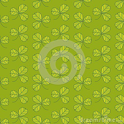 Зеленая картина клевера