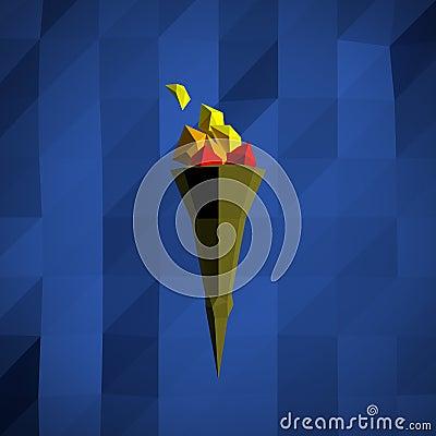 Низк-поли факел