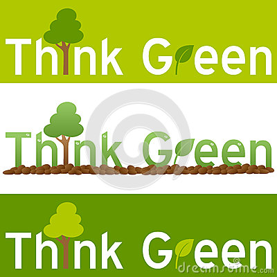 认为绿色概念横幅