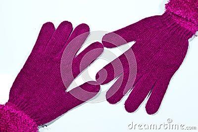 在一个空白背景的手套