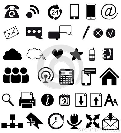 Иконы сети и связи