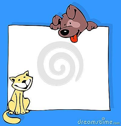 猫颜色狗海报