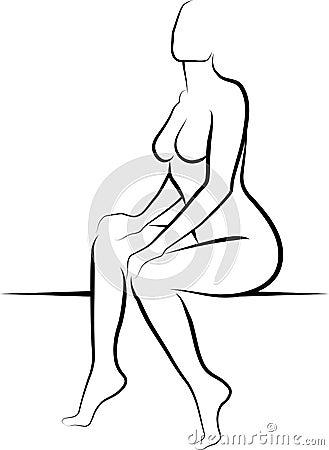 Женщина обнажённого