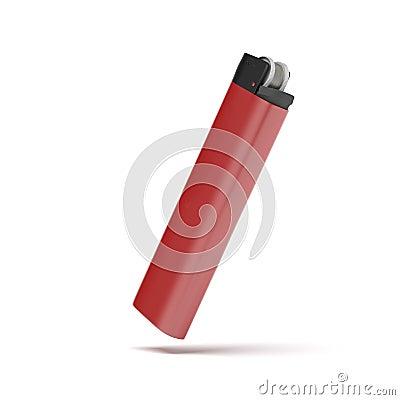 着打火机和烟的头像_在一个空白背景查出的红色香烟打火机.