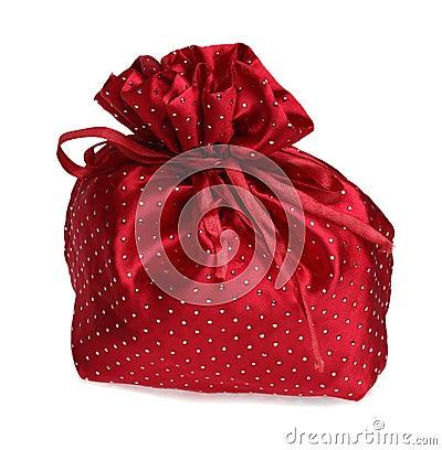 Красный мешок подарка
