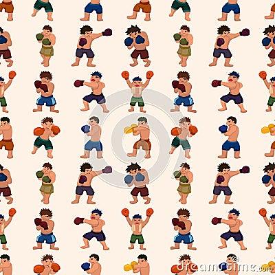 Безшовная картина боксера