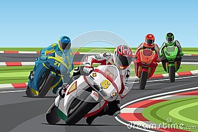 Участвовать в гонке мотоцикла