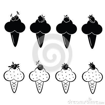套向量冰淇凌图标