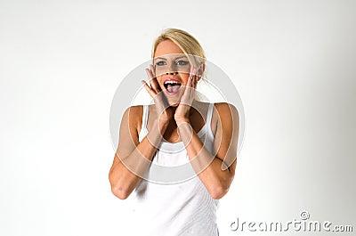 Женщина кричащая