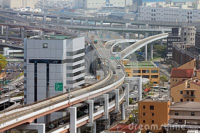Пересечение дороги в Японии