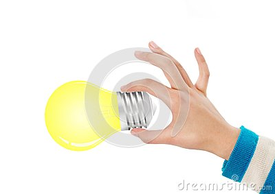 拿着电灯泡的现有量