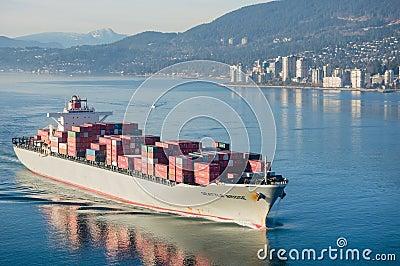 Корабль контейнера Редакционное Стоковое Изображение