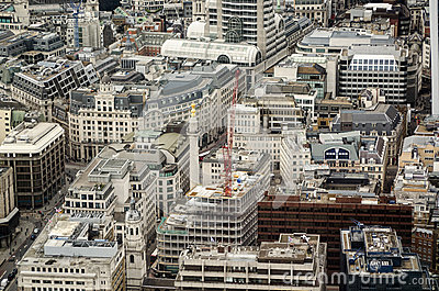 Памятник, город вида с воздуха Лондона
