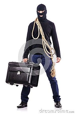 Балаклава взломщика нося