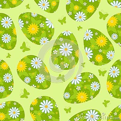 复活节绿色无缝的样式。