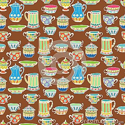 茶杯无缝的背景