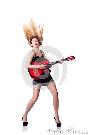 Θηλυκός κιθαρίστας