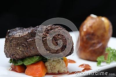 里脊肉牛排部分