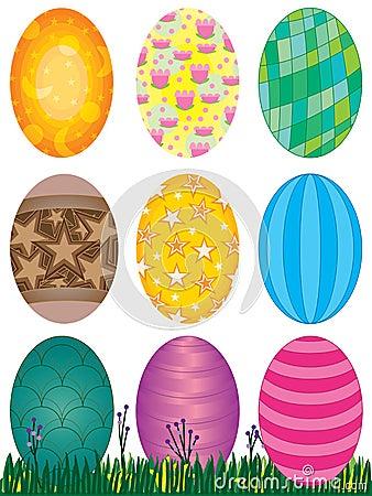 Установленные пасхальные яйца