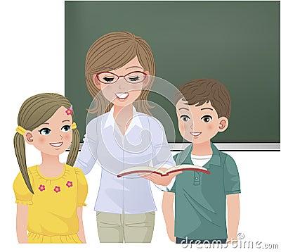 大声读为学生的学校教师图片