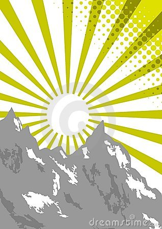 верхняя часть солнца горы луча