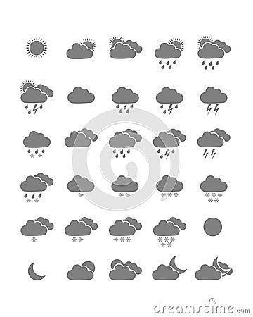 Значки погоды