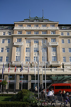 卡尔顿旅馆在布拉索夫(斯洛伐克) 编辑类库存图片