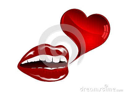 Красные губы