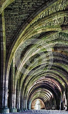 Руины аббатства фонтанов