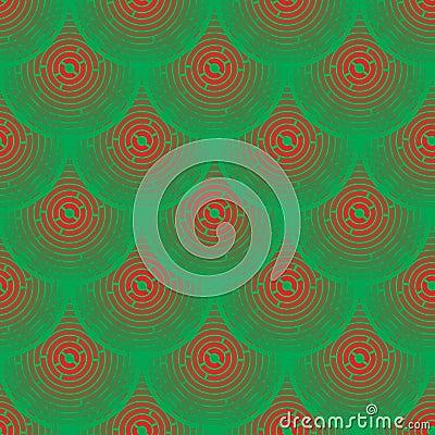 传染媒介样式-红色和绿色鳞状