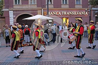Παρέλαση οδών Εκδοτική Στοκ Εικόνες