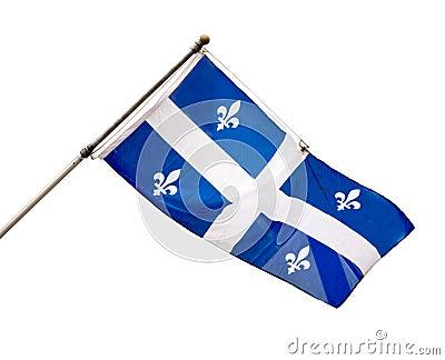 魁北克,加拿大省旗子