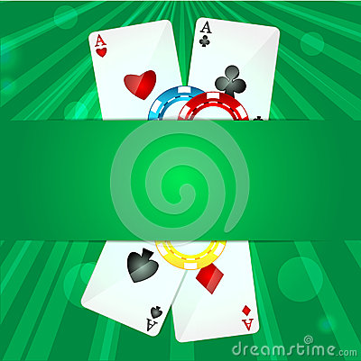 Κάρτες παιχνιδιού και τσιπ πόκερ