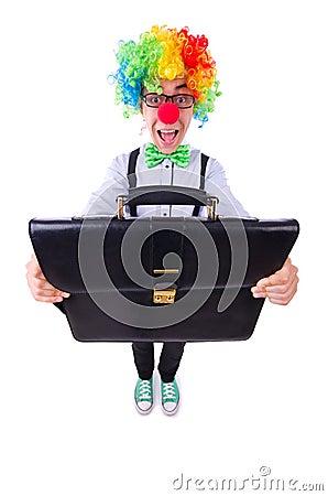 Бизнесмен клоуна