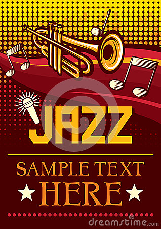 Плакат джаза