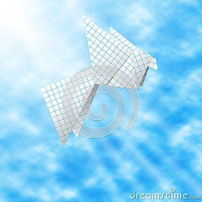 纸和平鸽子符号