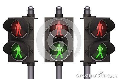 红绿灯步行者