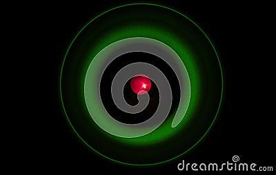 Абстрактная съемка атома