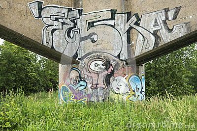 Граффити Редакционное Стоковое Изображение