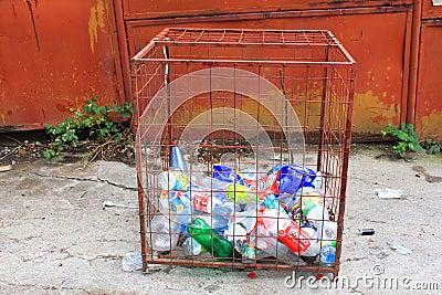 回收的瓶 编辑类库存照片
