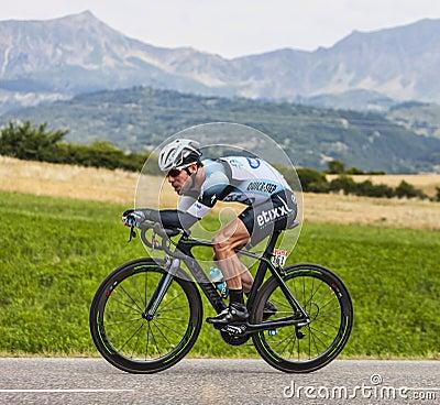 骑自行车者马克・卡文迪什 编辑类库存图片