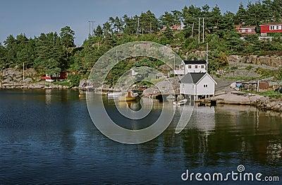 Χαρακτηριστική νορβηγική άποψη Εκδοτική Φωτογραφία