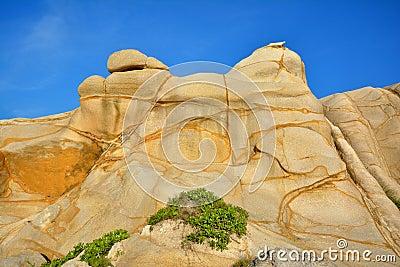 以为特色风化花岗岩在福建,在中国南部