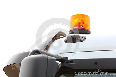 警告的闪光灯的信号灯在车