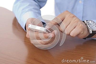 Белый умный телефон